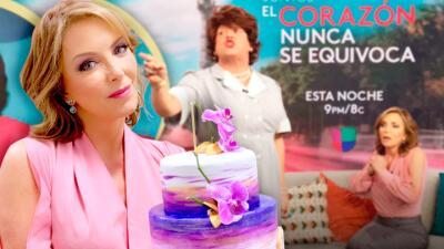 Risas, travesuras y un pastel de cumpleaños para celebrar a Laura Flores en Despierta América