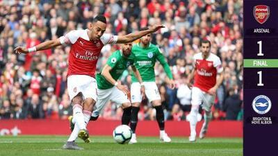 El Arsenal empata con el Brighton, deja escapar la Champions y está listo para el Valencia