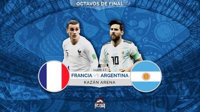 Francia y Argentina a luchar contra sí mismos por un pase a cuartos de final