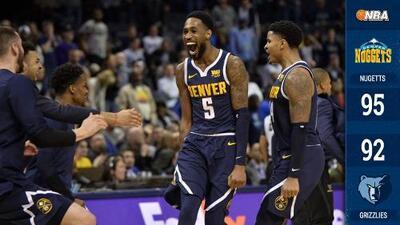 Los Nuggets se levantan de desventaja de 25 puntos y vencen a los Grizzlies