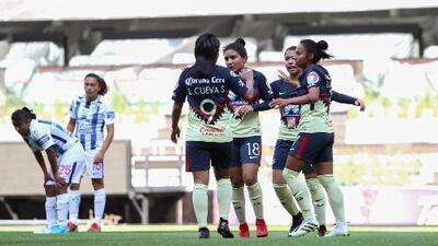 América superó a Pachuca y se afianzó en el liderato de su grupo en Liga MX Femenil