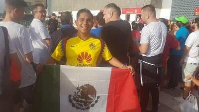 Desde Yucatán, un americanista viajó a España para ver en acción a su ídolo Sergio Ramos