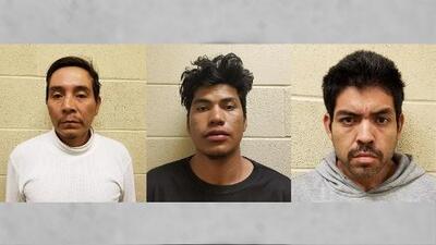 Arrestan a tres hombres con antecedentes criminales, uno de ellos miembro de la MS-13