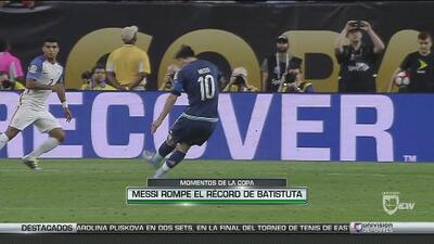 Momentos de la Copa: Lionel Messi rompe el récord de Gabriel Batistuta