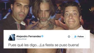Alejandro Fernández dio la mejor respuesta a las críticas por la foto que le tomaron en la fiesta