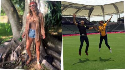 Karla Martínez tuvo un fin de semana de relax y Alan Tacher vivió de cerca la pasión del fútbol