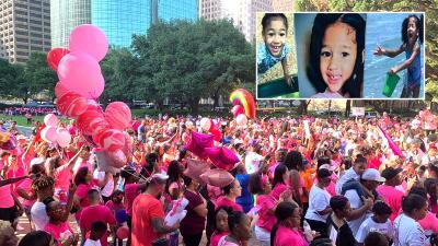 """""""Tenemos que asegurarnos que el espíritu de Maleah siga vivo"""": alcalde de Houston durante marcha en honor a la pequeña"""