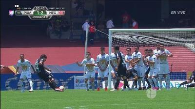 ¡Reventó la pelota! golazo de Matías Fernandez