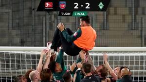 El Werder Bremen se queda en la Bundesliga gracias a los goles de visita