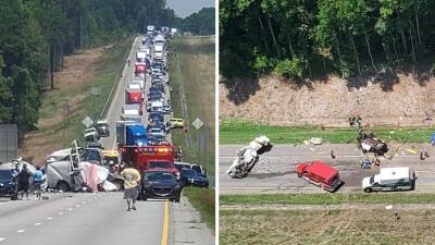 En fotos: Así fue el accidente en el que murieron cuatro hispanos en carretera de Georgia