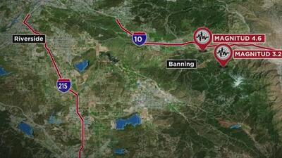 Dos sismos sacuden el sur de California, pero no dejan daños