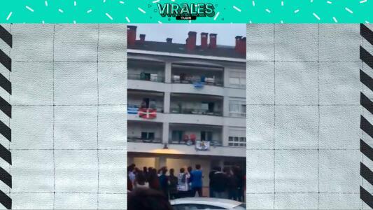 Brutal: Así recibieron los vecinos al DT de la Real Sociedad