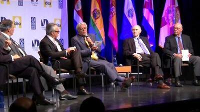 Líderes de América y Europa participan en un foro sobre democracia en Miami Dade College