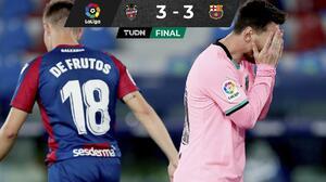 Barcelona deja escapar la victoria ante Levante... y LaLiga