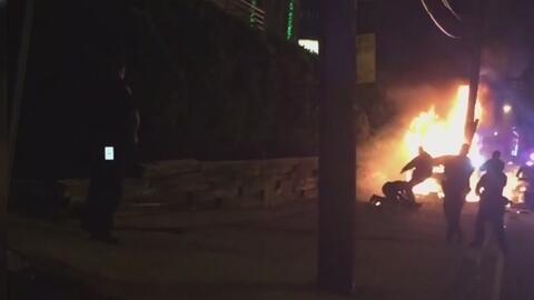 """Alcalde de Jersey City: agentes que participaron en persecución que dejó a un hispano en llamas """"actuaron fuera de los patrones establecidos por el Departamento"""""""