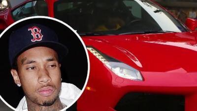 El Ferrari rojo de Tyga es embargado