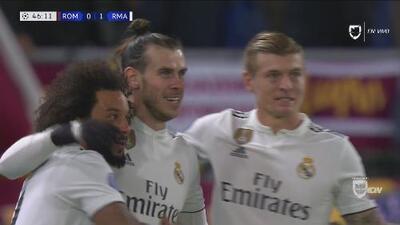 Con regaló de la defensa, Bale puso el primero para el Madrid
