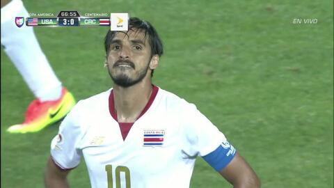 Uyy!! Casi gol. Bryan Jafet Ruiz Gonzalez patea y da en el arco