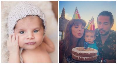 En fotos: así ha crecido en su primer año de vida el bebé de Michelle Renaud