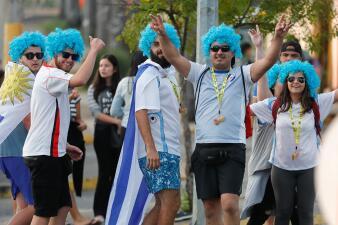 Los uruguayos se sienten locales en Belo Horizonte para enfentar a Ecuador