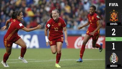 ¡A tan solo un gol! España supera a México y se coronan campeonas de Mundial Femenil Sub-17
