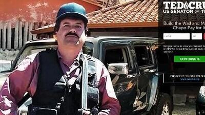 Ted Cruz propone que 'El Chapo' pague el muro con México