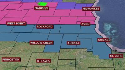 Chicago se prepara para un sábado pasado por frío, lluvias y nieve