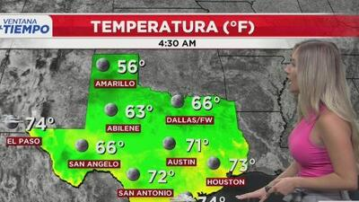 Condiciones calurosas y agradables para el centro de Texas