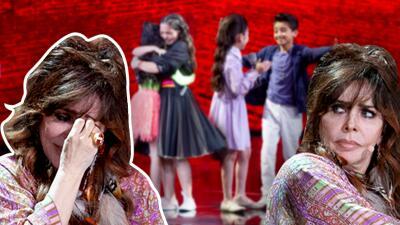 Verónica Castro promete llorar menos en los siguientes shows de Pequeños Gigantes