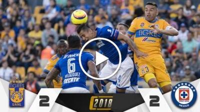 Agridulce empate: Tigres no amarró liguilla y Cruz Azul dijo adiós