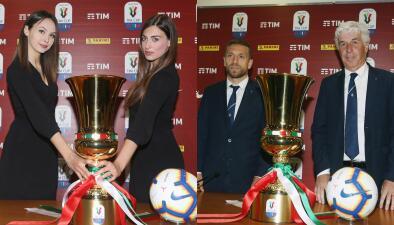 Así fue la presentación previa de la Final de la Copa de Italia entre Lazio y Atalanta