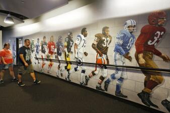 En fotos:  hoy se quiebra la sequía de NFL con el partido del Salón de la Fama en Canton