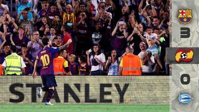 Barcelona mantiene su corona intacta tras vencer al Alavés en debut de la Liga