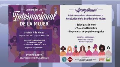 Asiste a la cumbre en San Antonio por el Día Internacional de la Mujer