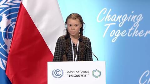 """Las duras palabras de una niña a los líderes del mundo: """"Están robando el futuro a sus hijos"""""""