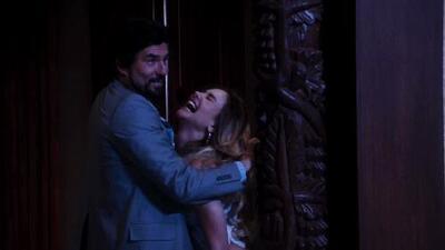 Aníbal retomó su romance con Olga y Amparo los atrapó besándose