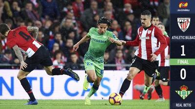 En el debut como titular de Diego Lainez, el Betis perdió 1-0 en su visita ante el Bilbao
