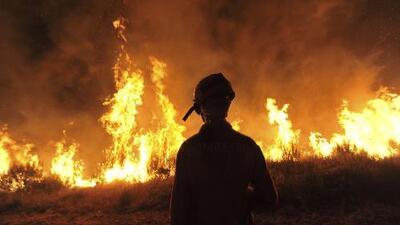 No cesan los incendios forestales en California