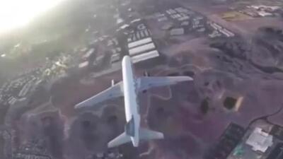 Dron se acerca peligrosamente a avión