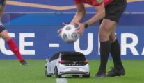 La sorpresiva llegada del balón al Francia vs. Ucrania