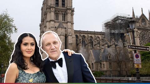 Esposo de Salma Hayek donará 100 millones de euros para ayudar a la reconstrucción de Notre Dame
