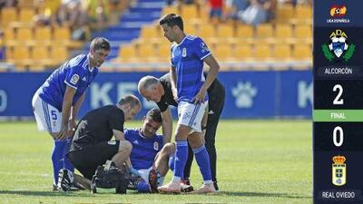 Debut amargo para Oswaldo Alanís con titularidad y lesión en derrota del Real Oviedo