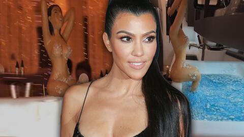Así fue la ostentosa fiesta de Kourtney Kardashian por sus 40 años (incluyendo un pastel con su figura desnuda)