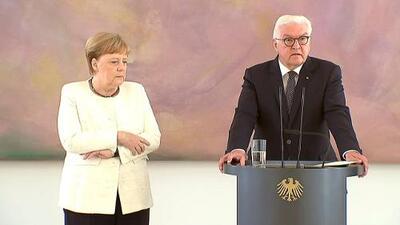 Pasó de nuevo: la canciller alemana, Angela Merkel, volvió a temblar en público y aumentan las preocupaciones por su salud