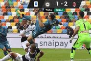 Derrota Milan al Udinese y asegura la cima de la Serie A