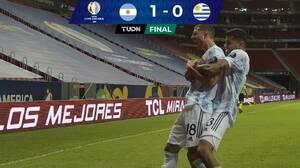 Argentina vence a Uruguay con gol de Guido a pase de Messi