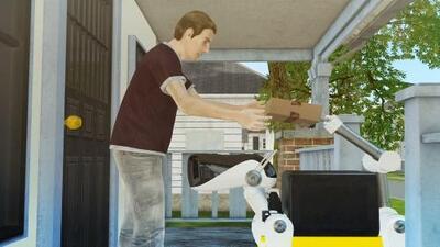 Si este perro-robot llama a tu puerta, no te asustes: tiene un paquete para ti