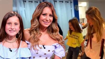 El intento de Elissa, la hija de Geraldine Bazán, por grabar un video bailando junto a los amigos de su mamá