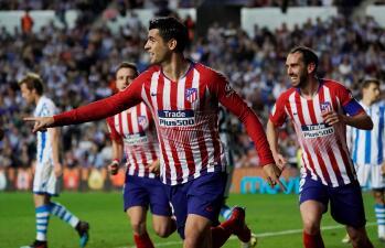 En fotos: Atlético de Madrid supera a la Real Sociedad sin Héctor Moreno