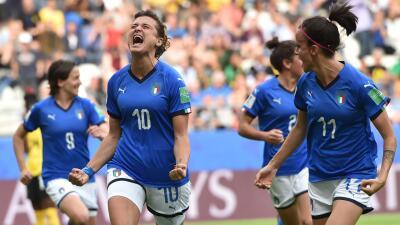En fotos: Italia paseó a Jamaica y quedó muy cerca de los Octavos del Mundial Femenino